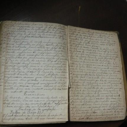 フランスの古い手帳