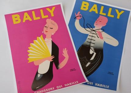 エルヴェ・モルヴァン ビンテージポスター BALLY
