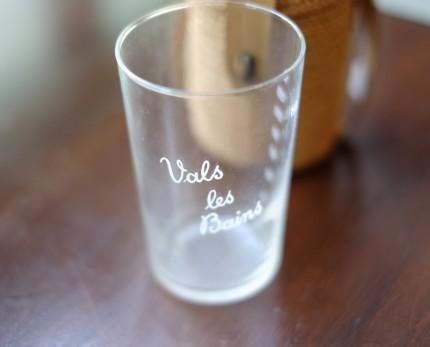 フランス蚤の市 ブロカント かごつきのグラス