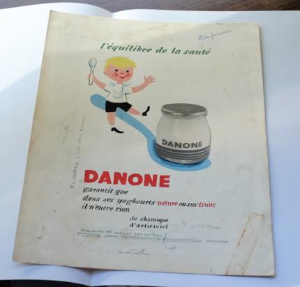 エルヴェ・モルヴァンのダノン広告の原画