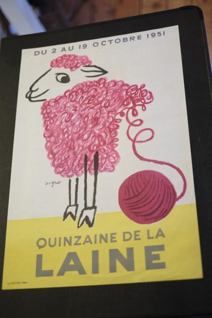 サヴィニャック ビンテージポスター 羊