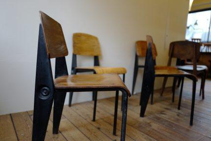 """Jean Prouvé """"Standard"""" Demountable """"Cafétéria"""" Chair no. 300"""