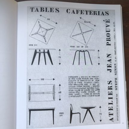 アトリエジャンプルーヴェのカフェテリアテーブルのカタログ