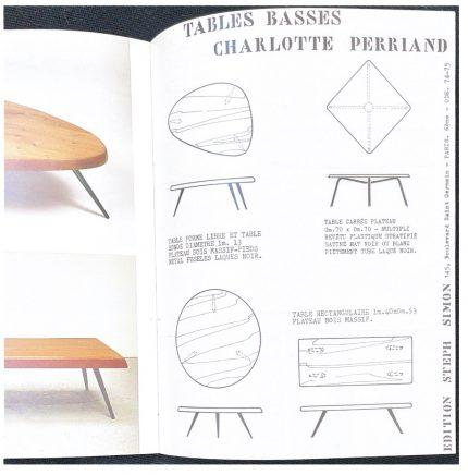シャルロットペリアンのローテーブル ステッフシモンギャラリーのカタログ